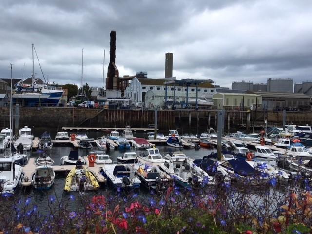 Power station and marina
